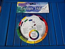 ARTIST POCKET COLOUR WHEEL ICON MIXING 13CM GUIDE TOOL NEW
