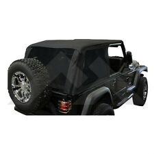 Bowless Soft Top Black Diamond w/ Tint Jeep Wrangler TJ 1997-2006 BRT10035