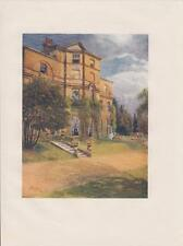 Moor Park Original Book Plate Print circa 1914 Painted by J.S Ogilvy