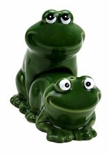 Froggy Style Ceramic Salt and Pepper Shaker Set Big Mouth Toys BRAND NEW