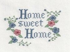 COMPLETED CROSS STITCH, HOME SWEET HOME