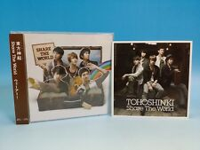 CD+DVD+Photo Card Tohoshinki TVXQ JAPAN Share The World/We are Group OT5