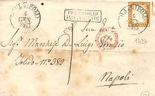 SL084 - SARDEGNA - Sassone # 14Dh - da Gallipoli a Napoli - tassata