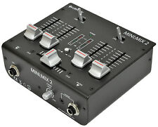 Citronic Mini Mix 2 USB DJ Mixer Computer Audio Soundcard Studio