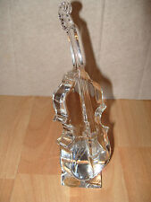 Rare Double Bass Violin Instrument GLASS CRISTAL D'ARQUES LEAD CRYSTAL ORNAMENT