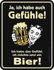Humor Kühlschrankmagnet Gefühl für Bier Kühlschrank Magnet Fun Schild Metall