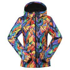 Womens Winter Waterproof Soft Shell Hiking Fleece Lined Warm Jacket Hoodie Coats