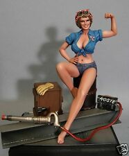 WWII PINUP ROSIE THE RIVETER FEMALE MILITARY HERO 1/8 SCALE RESIN MODEL KIT