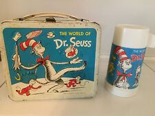 VINTAGE DR. SEUSS LUNCHBOX (1970) Cat In The Hat - Horton with thermos