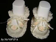 NEWBORN BABY GIRL SHOES BOOTIE SANDAL HANDMADE CROCHET COLOR, SIZE TO ORDER