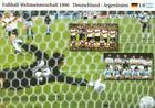 Fußball WM 1990 Finale + DEUTSCHLAND vs. ARGENTINIEN + BigCard #158 + Fotos +