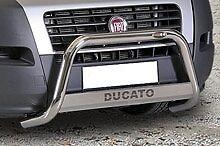 FIAT DUCATO BULL BAR MIRROR INOX 60 LUCIDO C/SCRITTA C/OMOLOGAZIONE EUROPEA