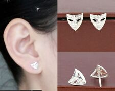 925 Sterling Silver Lovely Chic Drama Face Mask Post Stud Earrings gift box A3