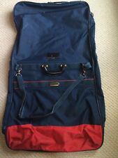 Samsonite Tiempo II Garment Bag Red/Blue Detachable Strap Luggage Tag+ 2 Pockets