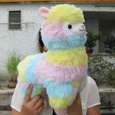 Alpaca Vicugna Pacos Arpakasso Alpacasso Soft Stuffed Plush Doll Toy Rainbow 14""