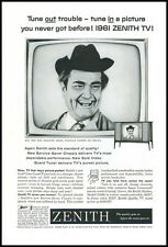 1961 vintage ad for Zenith TV with Red Skelton