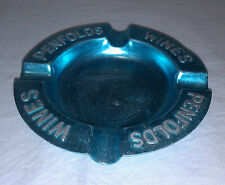 Penfolds Wines blue anodised metal ashtray barware & smoking collectible