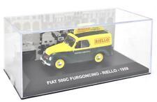 """DIE CAST """" FIAT 500C FURGONCINO - RIELLO - 1959 """" VEICOLI PUBBLICITARI 1/43"""