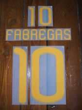 Official Sporting id Fabregas 10 Spain Shirt Player Size PU Print Set  2010/12
