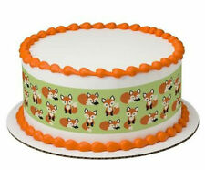 Fox Foxes cake strips edible image topper frosting sheet icing #20735
