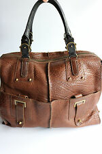 Joy Gryson brown pebbled leather tote purse