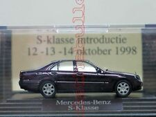 Mercedes-Benz S-Klasse W220 INTRODUCTIE 1998 Sondermodell rot WIKING PC 1:87