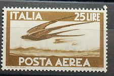 1947  ITALIA 25 lire bruno   Aerea   MNH**  filigrana ruota