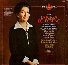 OPERA LP VERDI LA FORZA DEL DESTINO CALLA TUCKER NICOLA ROSSI-LEMENI 3 RECORDS
