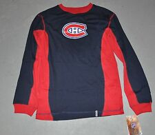"NWT Reebok® Boys/Youth MONTREAL CANADIENS ""CHC LOGO"" Long-Sleeve Shirt LARGE L"