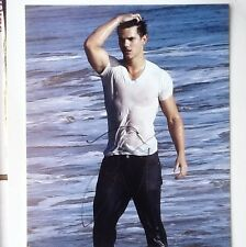 taylor lautner signed autograph sexy borderless full  8x10 photo COA