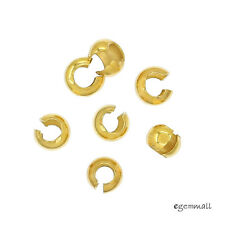 10x 22kt Gold Plated Sterling Silver Knot Cover Crimp Beads F/2-2.5mm Knot 99387
