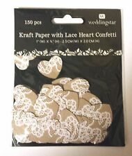 Kraft Paper Lace Heart Wedding Anniversary Party Confetti Decorations 150/pk