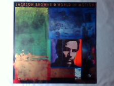 JACKSON BROWNE World in motion lp GERMANY BONNIE RAITT DAVID CROSBY SLY & ROBBIE