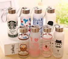 Large 400ML New Starbucks Water Bottle Glass Coffee Mug Outdoor Drinking Cup