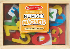Melissa & Doug 37pc Wooden Number Magnet (0 - 20) Includes 5 Maths Signs MND449