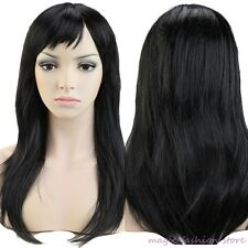2016 New Women Long Curly Straight Full Head Wig Cosplay Party Daily Fancy Dress