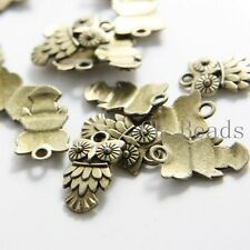 20pcs Antique Brass Tone Base Metal Charms-Owl 20x12mm (1532X-D-333B)