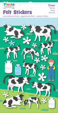 Vaca vacas Fieltro calcomanías Sticker Pack Kit Set Animales De Granja-Fiesta Crafts