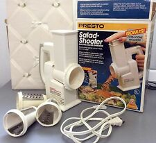 Presto Electric SALAD-SHOOTER Slicer Shredder #02910 With Bonus Cone