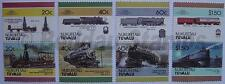 1986 NUKUFETAU Set #2 Train Locomotive Railway Stamps (Leaders of the World)