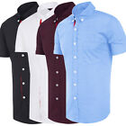 STYLISH Mens Slim Fit Button Down Formal Casual Shirts T-Shirt Short Sleeve Tops