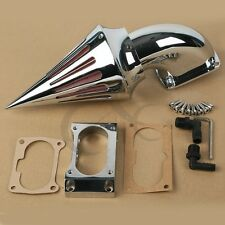 Chrome Spike Air Cleaner Intake Filter For Kawasaki Vulcan 2000 VN2000 Models
