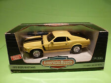 ERTL AMERICAN MUSCLE 7484 FORD MUSTANG BOSS 302 1970 -YELLOW 1:18 - NMIB