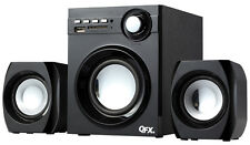 Qfx BT203 2.1 Bluetooth Home Audio Subwoofer & Speakers System For PC Mobile