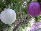 16x 20cm white & purple paper lanterns engagement wedding party home decorations