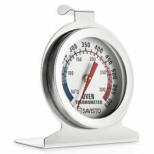 Savisto Stainless Steel Oven Grill Thermometer Large Display Standing / Hanging