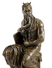 Bronzo personaggio-Mosè di Michelangelo-firmato Michelangelo