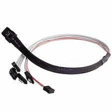 SilverStone Technology CPS03  Mini SAS SFF-8087 to SATA 7-Pin Cable Adapter