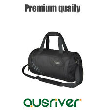 Premium New Women's Men's Gym Sports Travel Barrel Shoulder Bag Black