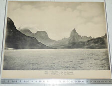 PHOTO TCF 1920 1930 TAHITI MOOREA BAIE OPUNOHU COLONIES FRANCE POLYNESIE
